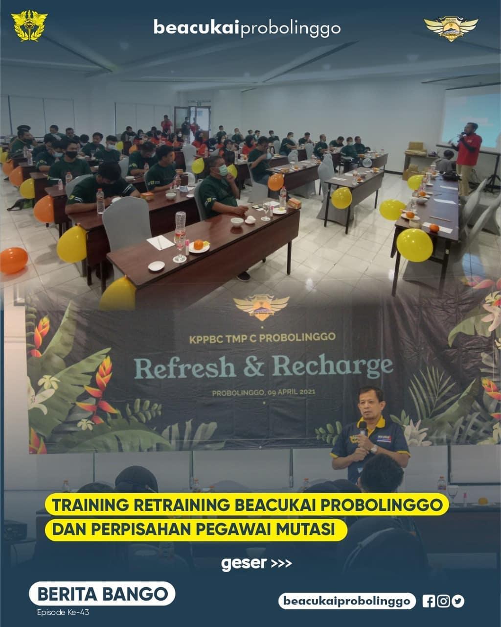 TRAINING RETRAINING DAN PISAH SAMBUT PEGAWAI